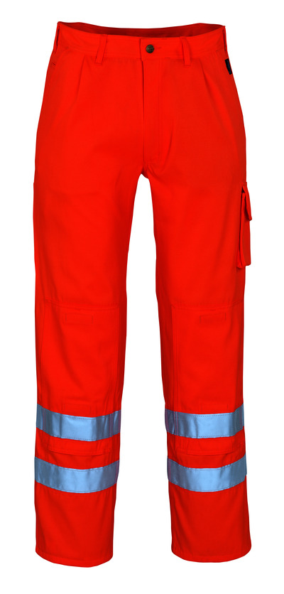 MASCOT® Iowa - Hi-vis orange* - Pantalon avec poches genouillères