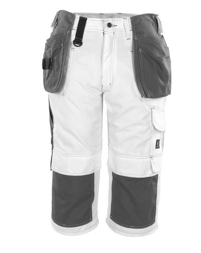MASCOT® Jaca - Blanc* - Pantacourt avec poches genouillères et poches flottantes