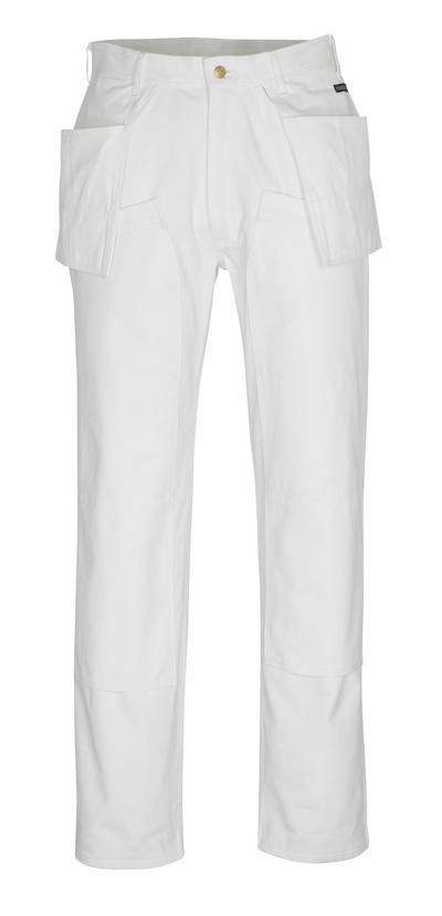 MASCOT® Jackson - Blanc* - Pantalon avec poches genouillères et poches flottantes