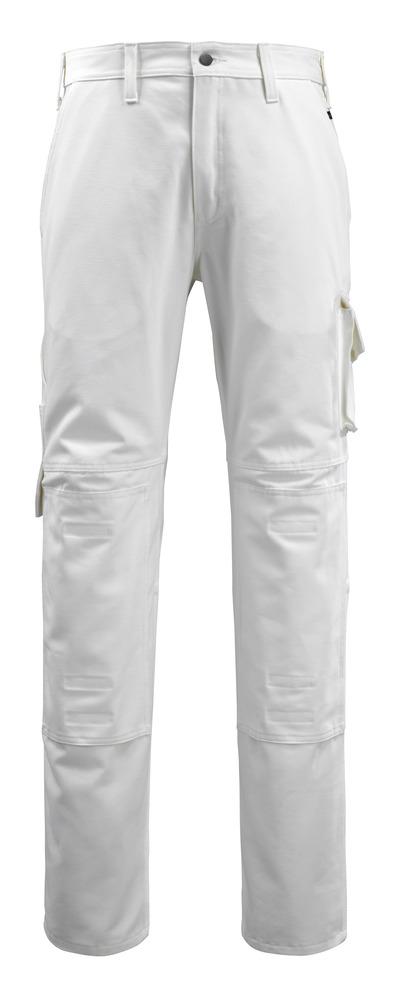 MACMICHAEL® Jardim - Blanc - Pantalon avec poches genouillères, coton
