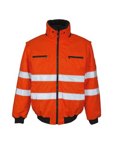 MASCOT® Kaprun - Hi-vis orange - Veste pilote avec doublure en fourrure synthétique amovible, hydrofuge, classe 3