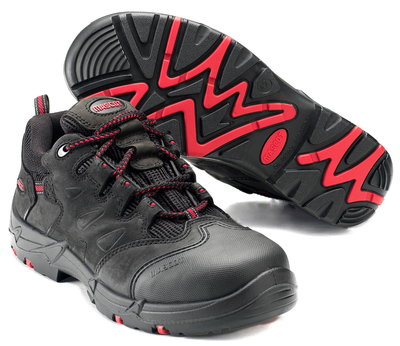 MASCOT® Kilimanjaro - Noir/Rouge - Chaussures de sécurité S3 à lacets