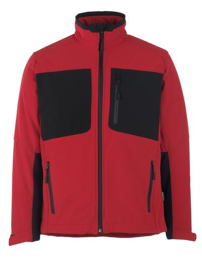 MASCOT® Lagos - Rouge trafic/Noir* - Veste softshell avec polaire à l'intérieur, hydrofuge