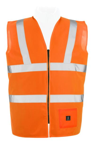 MASCOT® Lakewood - Hi-vis orange* - Gilet de circulation avec zip, classe 2