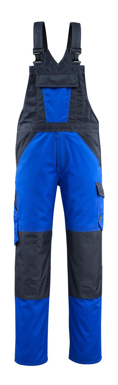 MASCOT® Leeton - Bleu roi/Marine foncé - Salopette avec poches genouillères, poids léger
