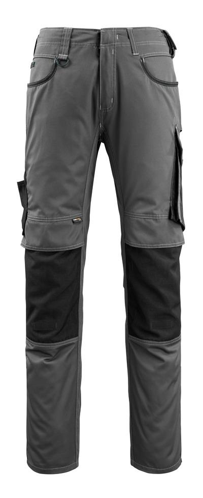 MASCOT® Lemberg - Anthracite foncé/Noir - Pantalon avec poches genouillères en CORDURA®, poids très léger