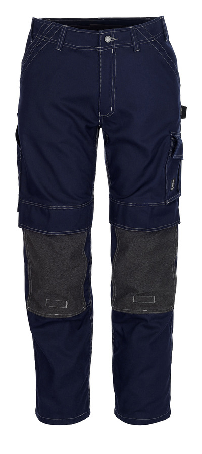 MASCOT® Lerida - Marine - Pantalon avec poches genouillères en Kevlar®, haute solidité