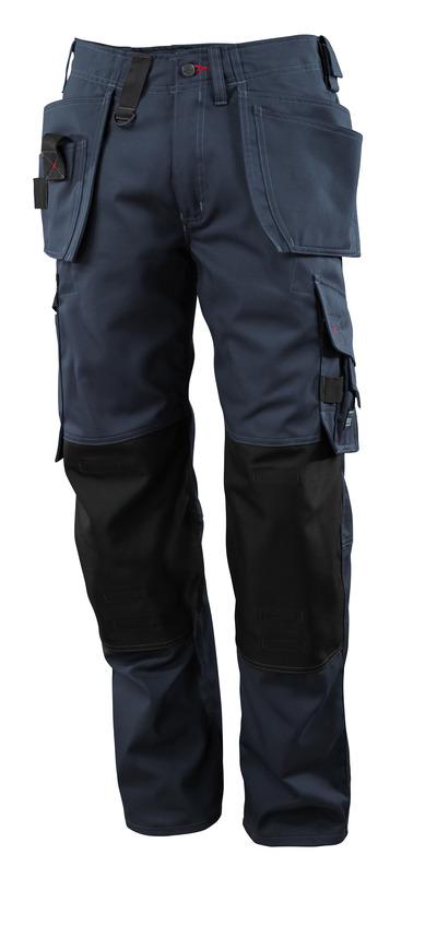 MASCOT® Lindos - Marine foncé - Pantalon avec poches genouillères en CORDURA® et poches flottantes, poids léger