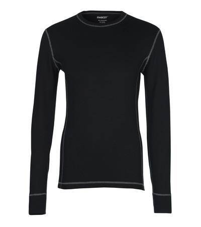 MASCOT® Logrono - Noir - Tricot de corps thermique, évacuant l'humidité, isolant