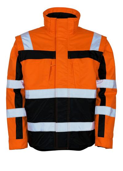MASCOT® Loreto - Hi-vis orange/Marine - Veste grand froid avec veste thermique amovible, déperlant, classe 3