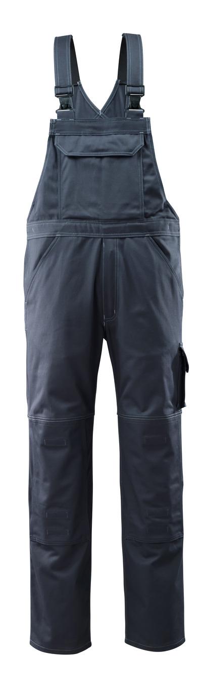 MASCOT® Lowell - Marine foncé - Salopette avec poches genouillères, coton