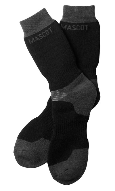 MASCOT® Lubango - Noir/Anthracite foncé - Chaussettes, modèle long, évacuant l'humidité