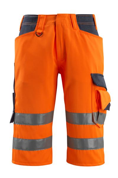 MASCOT® Luton - Hi-vis orange/Marine foncé - Pantacourt, classe 1