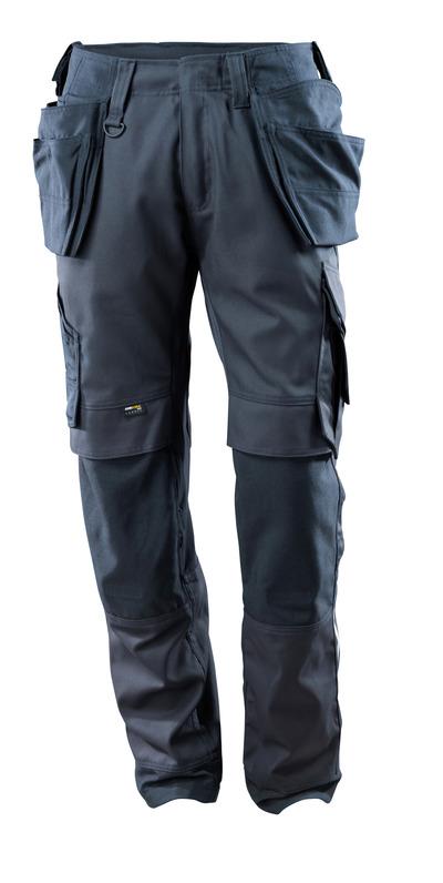 MASCOT® Madrid - Marine foncé - Pantalon avec poches genouillères et poches flottantes en CORDURA®, panneaux en stretch, haute solidité