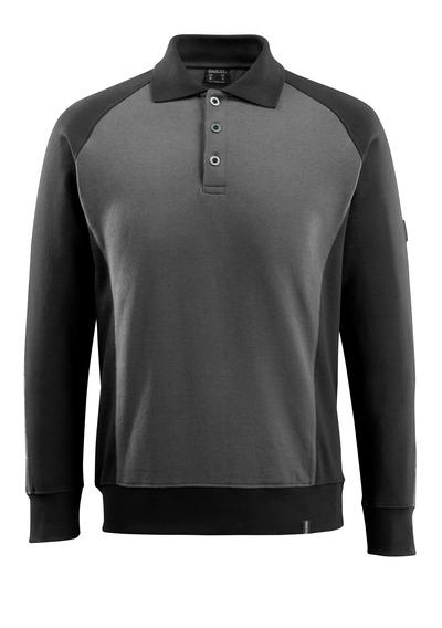 MASCOT® Magdeburg - Anthracite foncé/Noir - Sweatshirt polo, coupe moderne