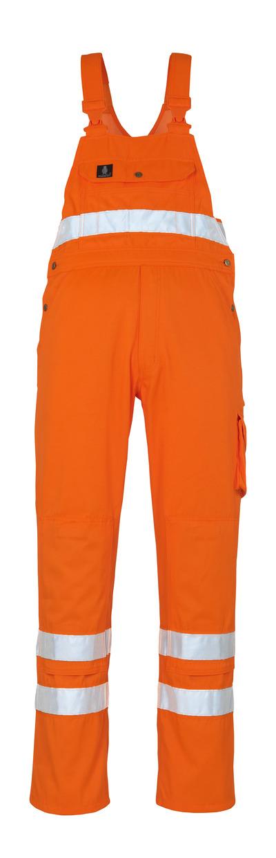 MASCOT® Maine - Hi-vis orange* - Salopette avec poches genouillères, classe 2/2