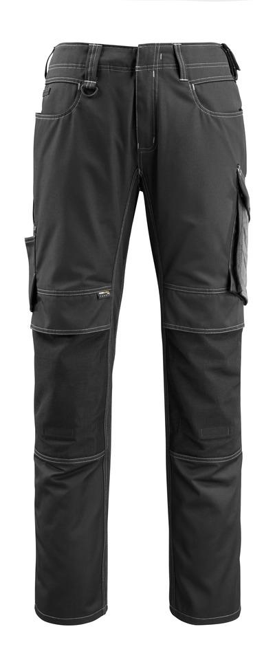 MASCOT® Mannheim - Noir/Anthracite foncé - Pantalon avec poches genouillères en CORDURA®, poids léger