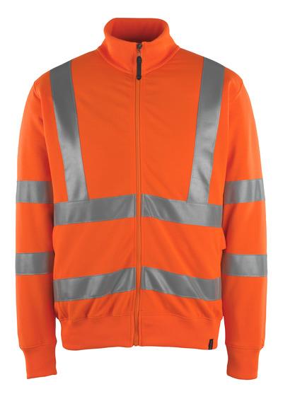 MASCOT® Maringa - Hi-vis orange - Sweatshirt zippé, coupe moderne, classe 3