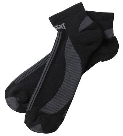MASCOT® Maseru - Noir/Anthracite foncé - Chaussettes, modèle court, évacuant l'humidité