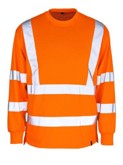 MASCOT® Melita - Hi-vis orange - Sweatshirt, coupe classique, classe 3