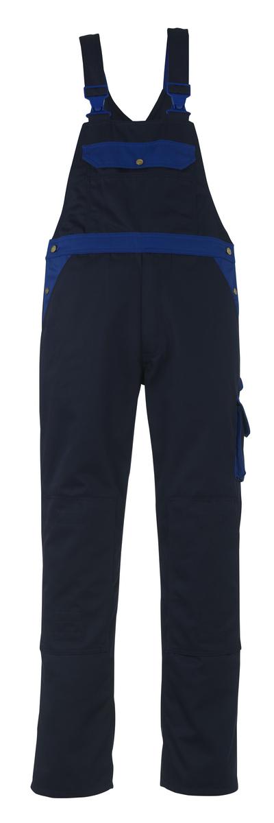 MASCOT® Milano - Marine/Bleu roi - Salopette avec poches genouillères, haute solidité