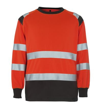 MASCOT® Montijo - Hi-vis rouge/Anthracite foncé* - Sweatshirt, coupe classique, classe 2
