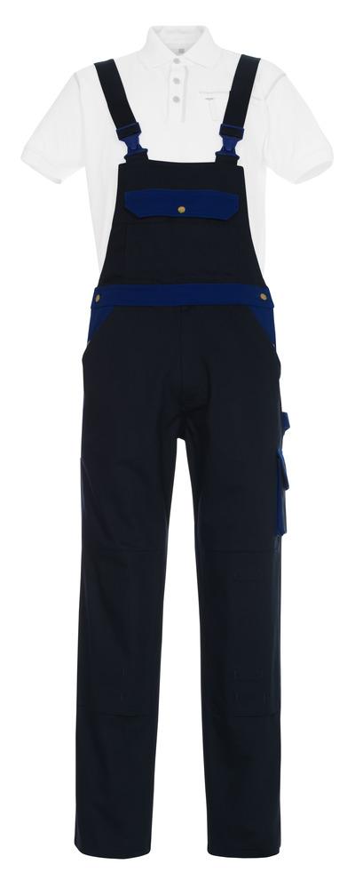 MASCOT® Monza - Marine/Bleu roi - Salopette avec poches genouillères, coton