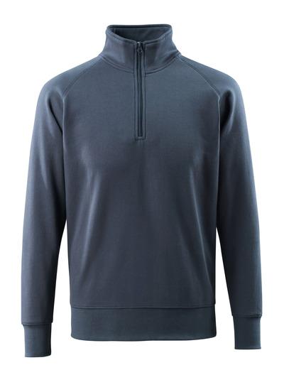 MASCOT® Nantes - Marine foncé - Sweatshirt demi-zippé, coupe moderne