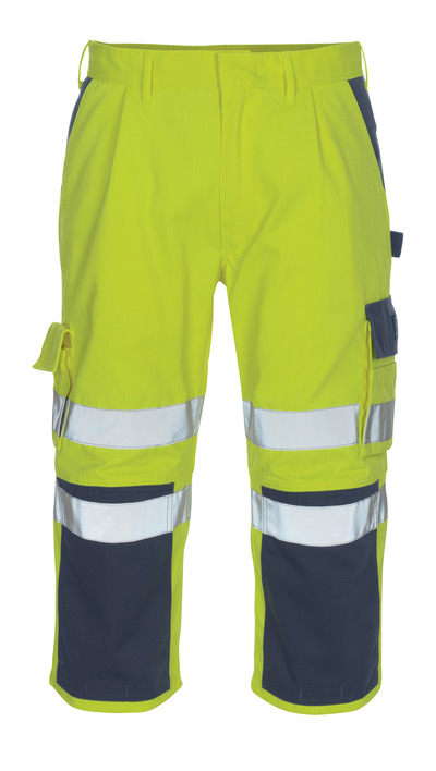 MASCOT® Natal - Hi-vis jaune/Marine* - Pantacourt avec poches genouillères
