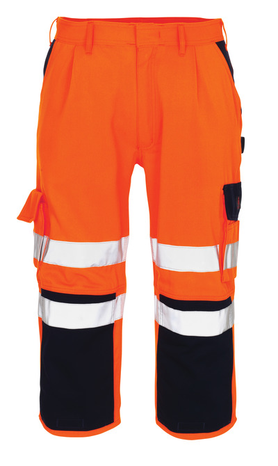 MASCOT® Natal - Hi-vis orange/Marine* - Pantacourt avec poches genouillères