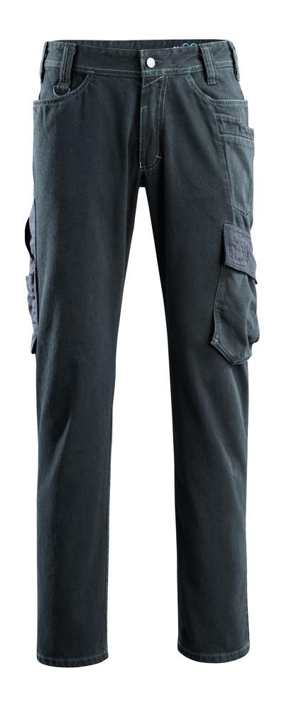 MASCOT® Navia - Denim bleu foncé - Jeans avec poches cuisse, solidité particulièrement élevée