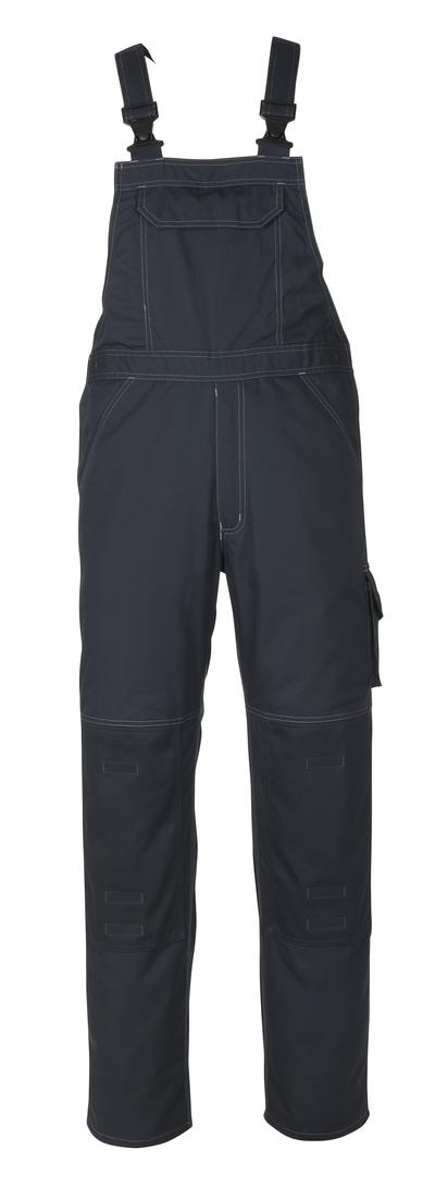 MASCOT® Newark - Marine foncé - Salopette avec poches genouillères, poids léger