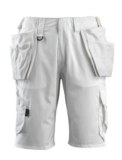 MASCOT® Olot - Blanc - Short avec poches flottantes en CORDURA® et pans en tissu stretch