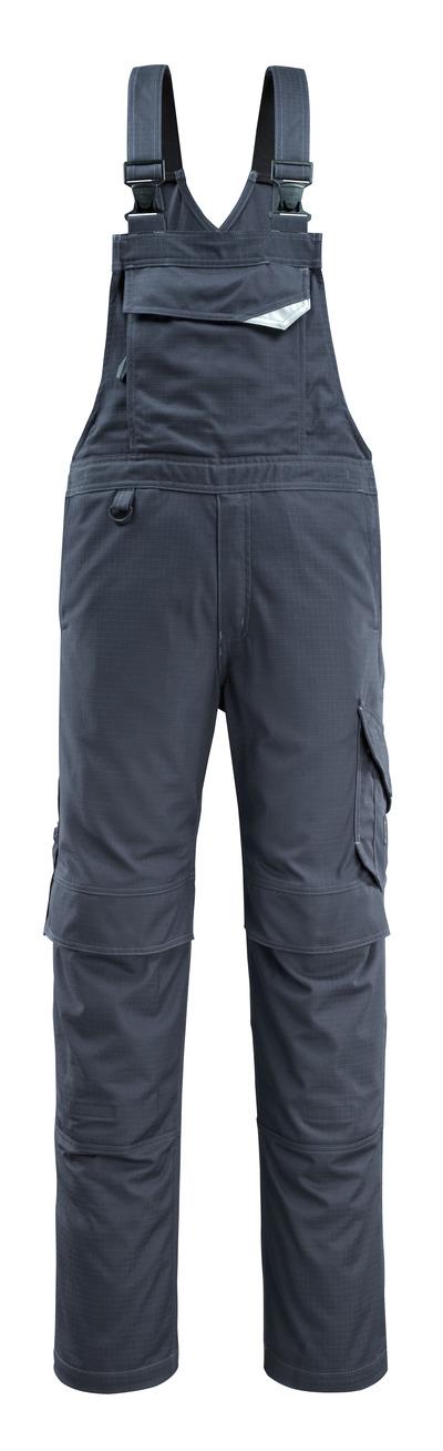MASCOT® Oron - Marine foncé - Salopette avec poches genouillères, repousse la saleté, multiprotection