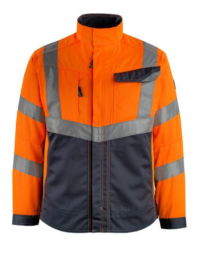MASCOT® Oxford - Hi-vis orange/Marine foncé - Veste, haute solidité, classe 2