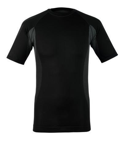 MASCOT® Pavia - Anthracite foncé - Tricot de corps thermique, manches courtes, poids léger, évacuant l'humidité