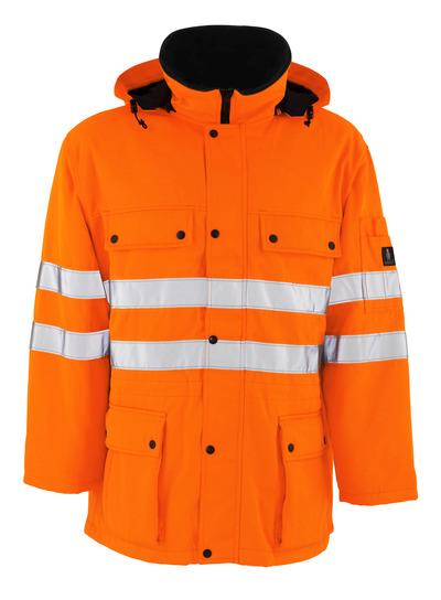MASCOT® Quebec - Hi-vis orange - Parka avec doublure matelassée, hydrofuge, classe 3/2