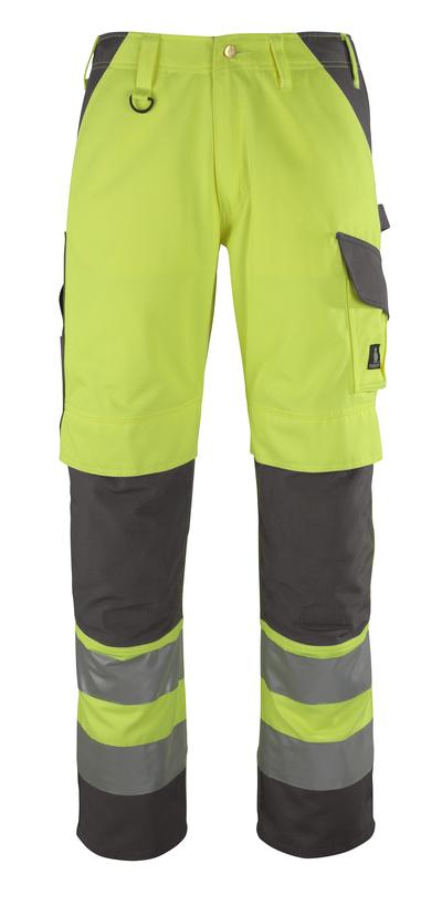 MASCOT® Redondo - Hi-vis jaune/Anthracite* - Pantalon avec poches genouillères