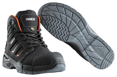 MASCOT® Rimo - Noir/Orange foncé - Bottes de sécurité S3 à lacets
