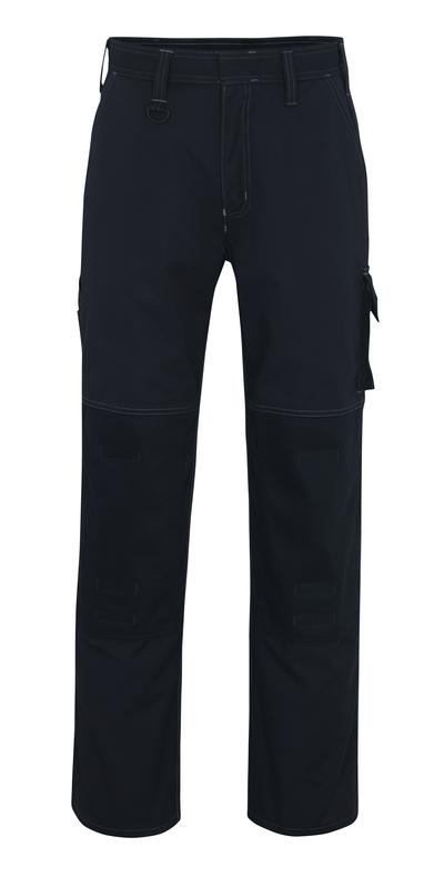 MASCOT® Riverside - Marine foncé - Pantalon avec poches genouillères, haute solidité