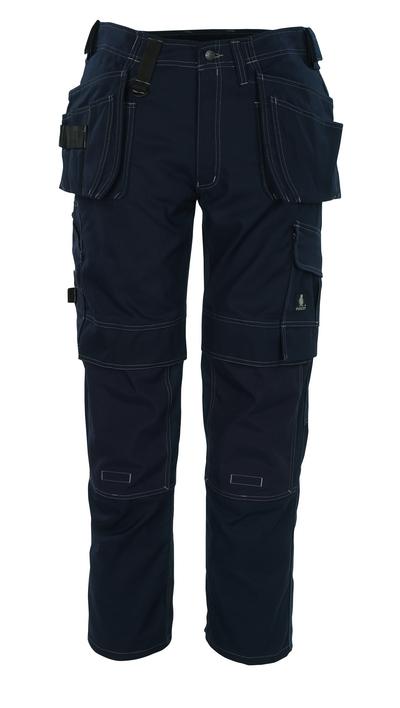 MASCOT® Ronda - Marine - Pantalon avec poches genouillères en CORDURA® et poches flottantes, haute solidité