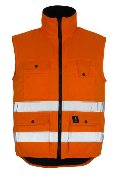 MASCOT® Sölden - Hi-vis orange - Gilet grand froid avec doublure en fourrure synthétique, hydrofuge, classe 1