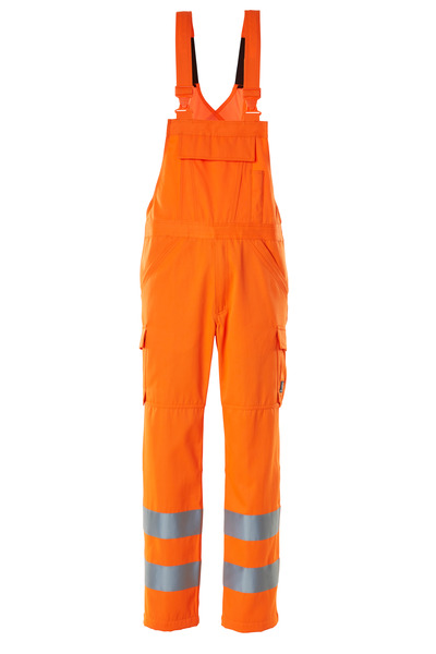 MASCOT® SAFE LIGHT - Hi-vis orange - Salopette avec poches cuisses, unicolore, classe 2.