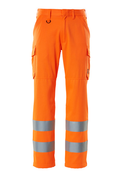 MASCOT® SAFE LIGHT - Hi-vis orange - Pantalon avec poches cuisses, unicolore, classe 2.