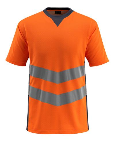 MASCOT® Sandwell - Hi-vis orange/Marine foncé - T-shirt, coupe moderne, classe 2