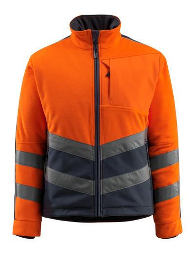 MASCOT® Sheffield - Hi-vis orange/Marine foncé - Veste polaire avec doublure ouatée coupe-vent, hydrofuge, classe 2