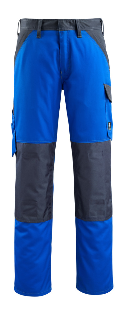 MASCOT® Temora - Bleu roi/Marine foncé - Pantalon avec poches genouillères, poids léger