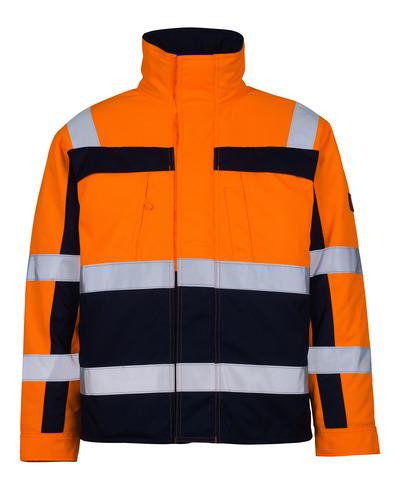 MASCOT® Timon - Hi-vis orange/Marine* - Veste pilote avec doublure matelassée, classe 3