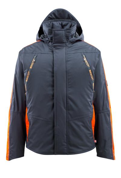 MASCOT® Tolosa - Marine foncé/Hi-vis orange - Veste grand froid avec contraste réfléchissant, étanche, haute isolation