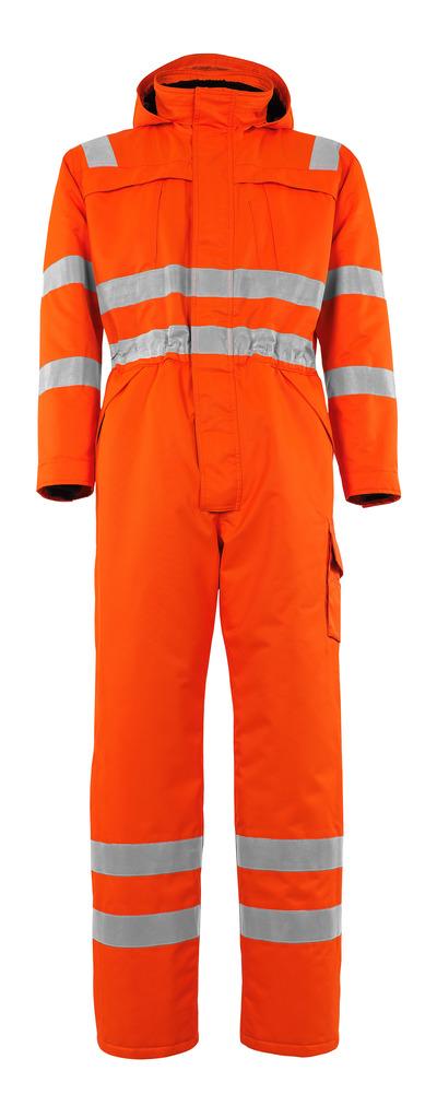 MASCOT® Tombos - Hi-vis orange - Combinaison grand froid avec doublure en fourrure synthétique, en MASCOTEX® imperméable, classe 3